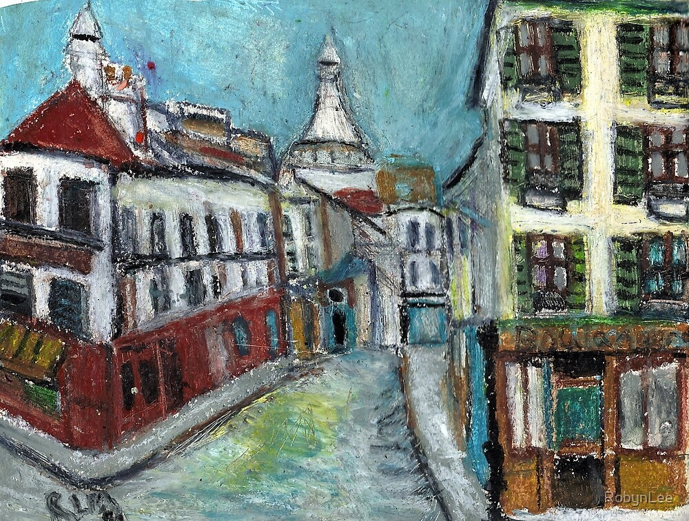 Paris Street(after Utrillo) by RobynLee