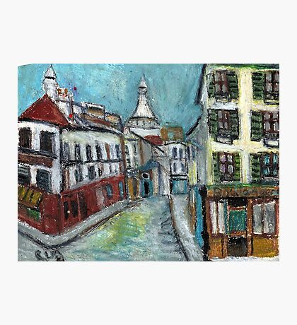 Paris Street(after Utrillo) Photographic Print
