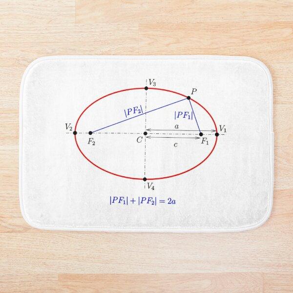 #Ellipse: #definition by #sum of distances to #foci Bath Mat