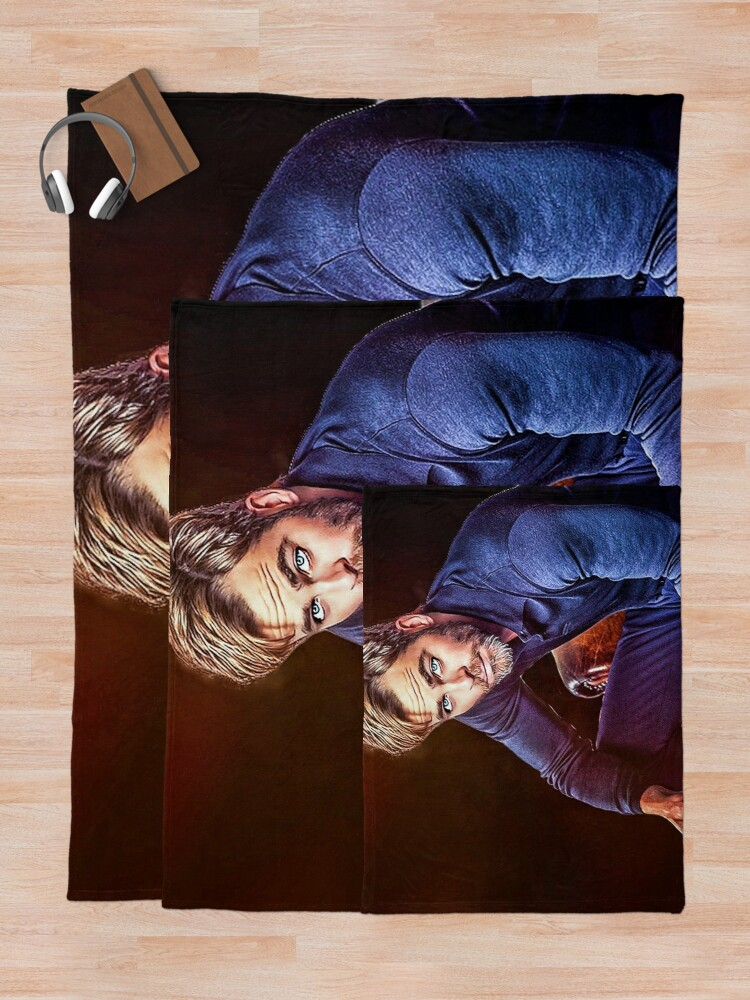 Alternate view of Chris Pine Throw Blanket