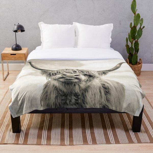 Cheeky Highland Cow  Throw Blanket