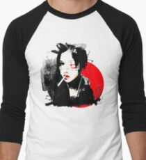 Japanese Punk Girl Men's Baseball ¾ T-Shirt