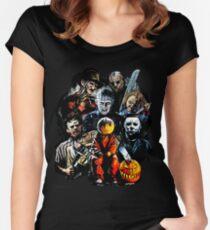 Horrorfilmcharaktere Tailliertes Rundhals-Shirt