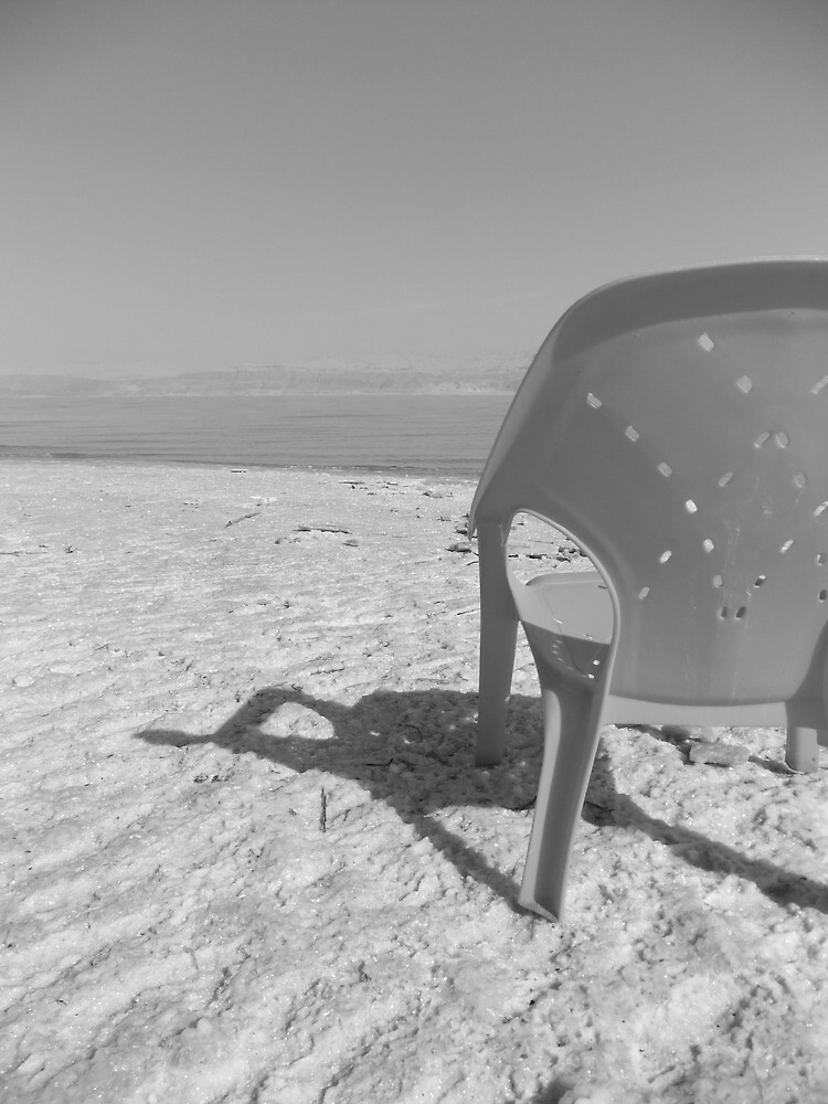 Lawn Chair and Dead Sea by Adam Isaacson