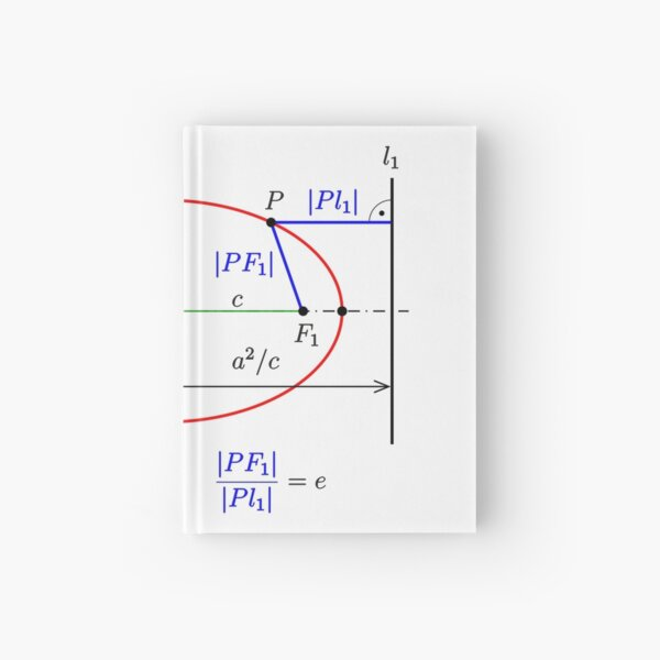 Ellipse: directrix property Hardcover Journal