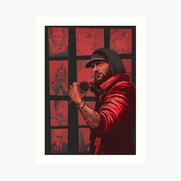 Red Mic Art Print