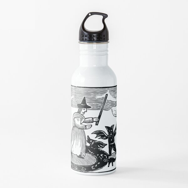 A Witch and Her Demons Water Bottle