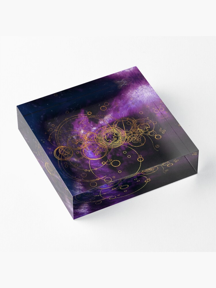 Alternate view of Time Lord Writing (purple) Acrylic Block