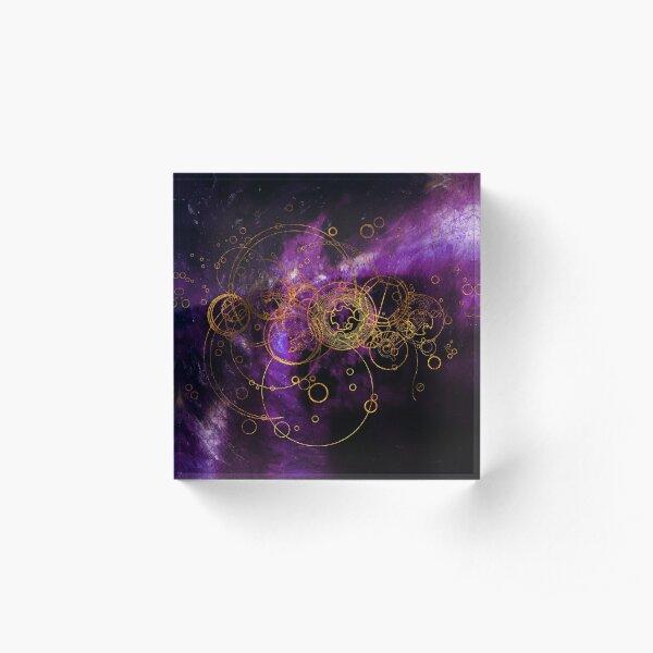 Time Lord Writing (purple) Acrylic Block