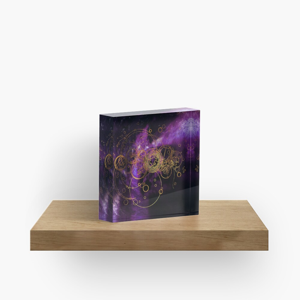 Time Lord Writing (purple) Acrylic Block