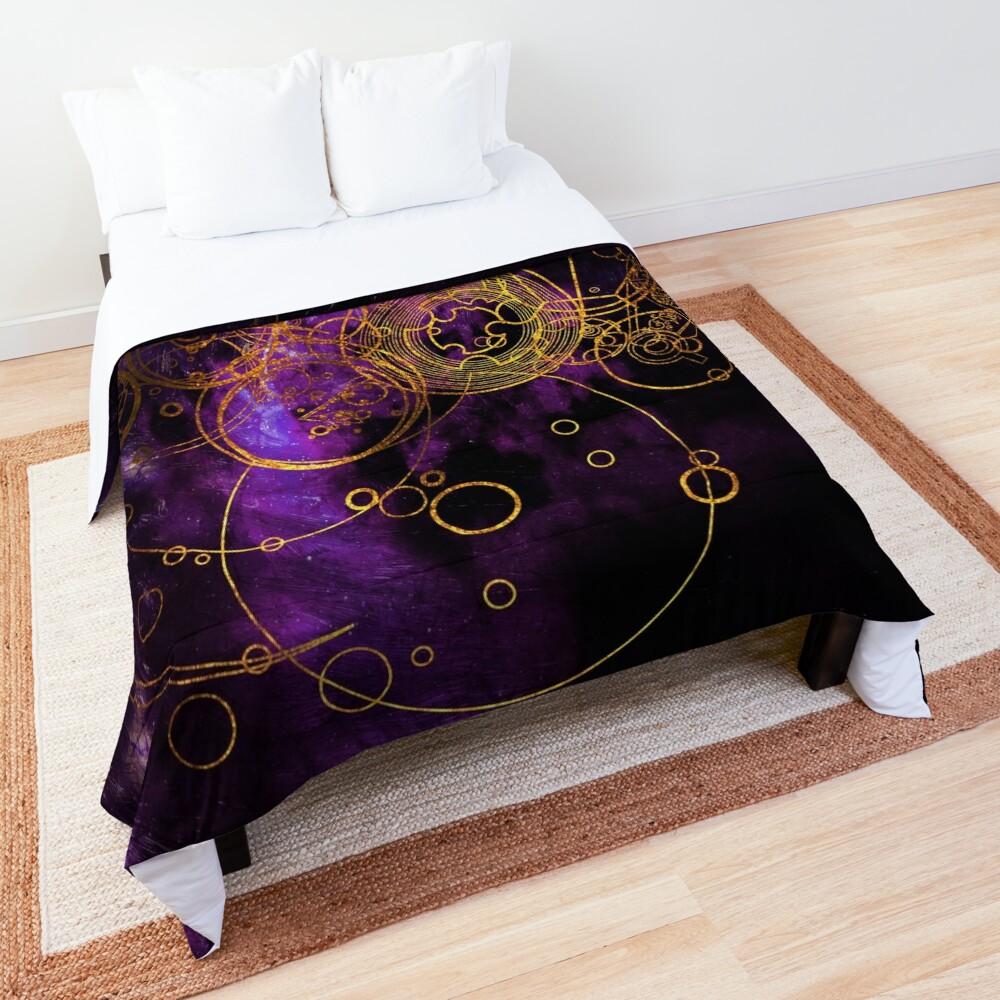 Time Lord Writing (purple) Comforter