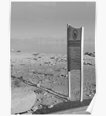 Lone Sign and the Dead Sea Poster