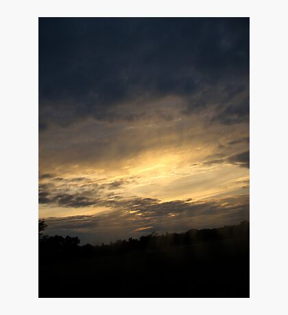 Sunset Passing By Photographic Print