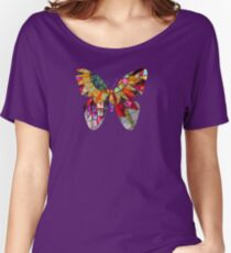 Star Flower,  photography of shiny mosaic - JUSTART © Women's Relaxed Fit T-Shirt