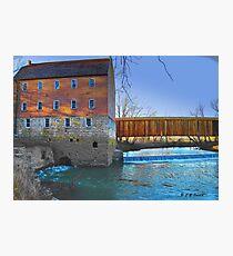 Burfordville Covered Bridge and Bollinger Mill Photographic Print
