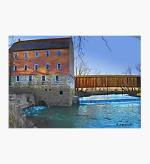 Burfordville Covered Bridge and Bollinger Mill Photographic Print