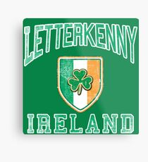 Letterkenny, Ireland with Shamrock Metal Print