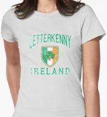 Letterkenny, Ireland with Shamrock Womens Fitted T-Shirt