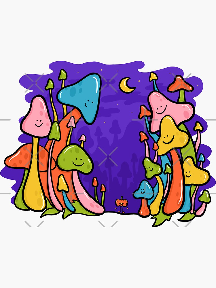 Overgrown Mushrooms by doodlebymeg