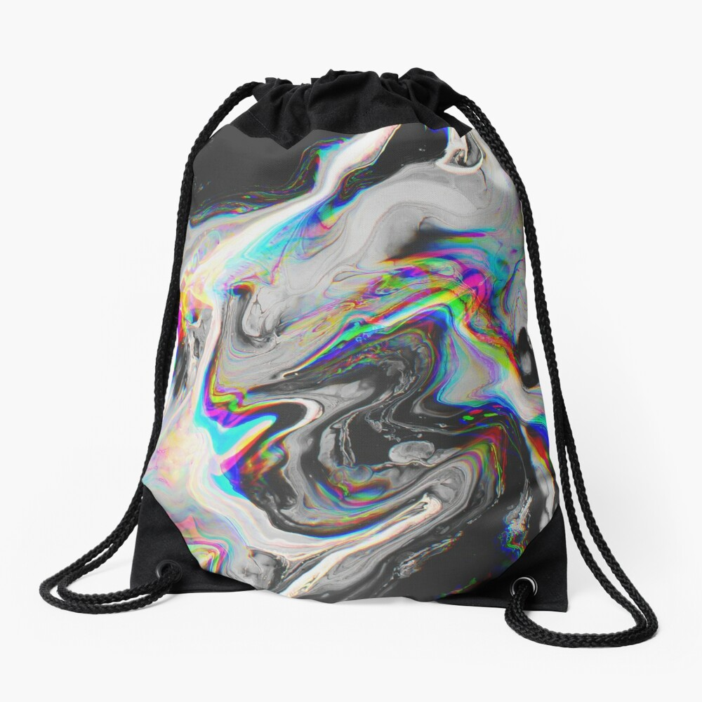 CONFUSION IN HER EYES THAT SAYS IT ALL Drawstring Bag