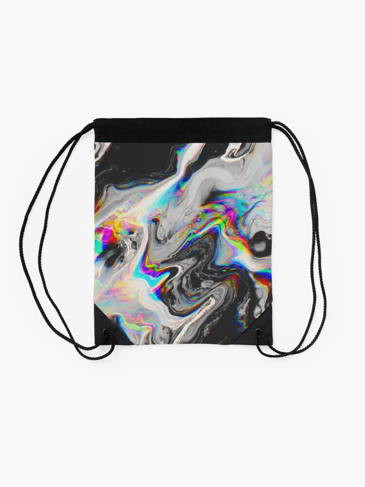 Alternate view of CONFUSION IN HER EYES THAT SAYS IT ALL Drawstring Bag