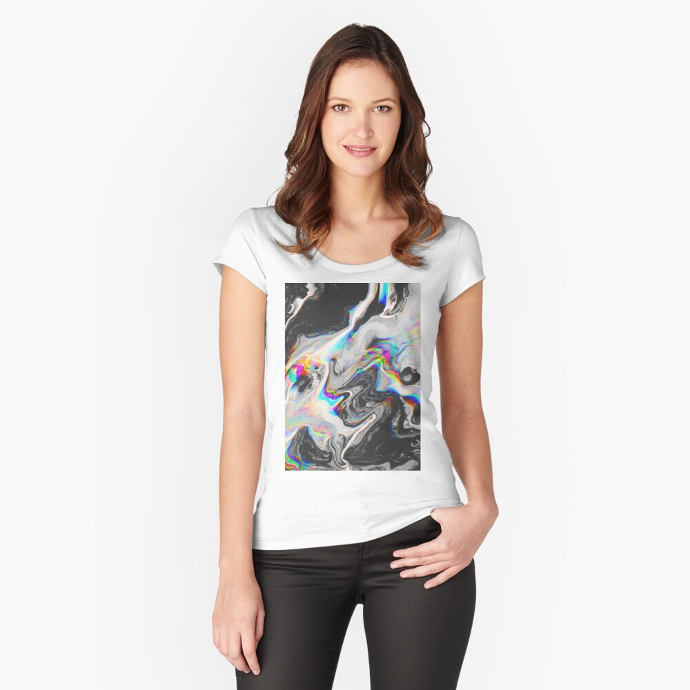 CONFUSION IN HER EYES THAT SAYS IT ALL Fitted Scoop T-Shirt