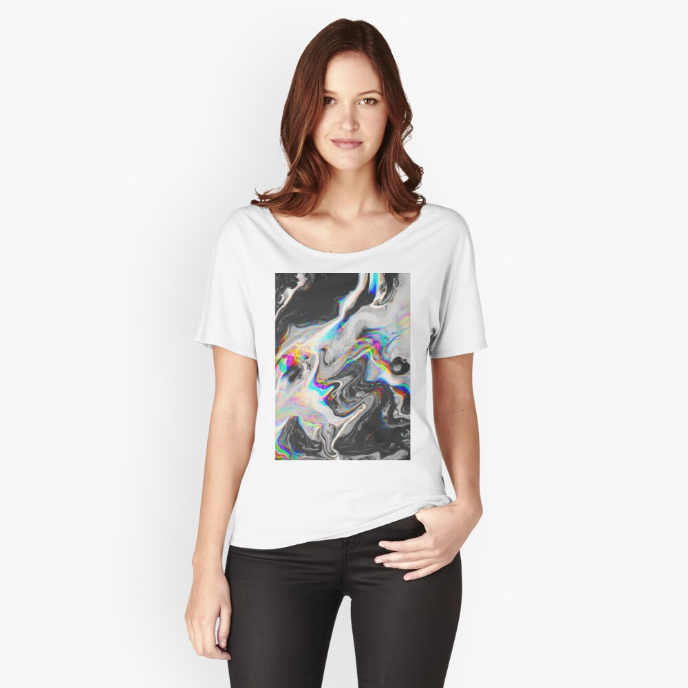 CONFUSION IN HER EYES THAT SAYS IT ALL Relaxed Fit T-Shirt