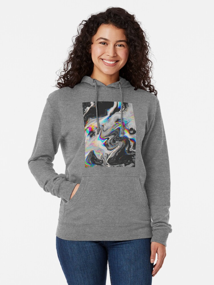 Alternate view of CONFUSION IN HER EYES THAT SAYS IT ALL Lightweight Hoodie