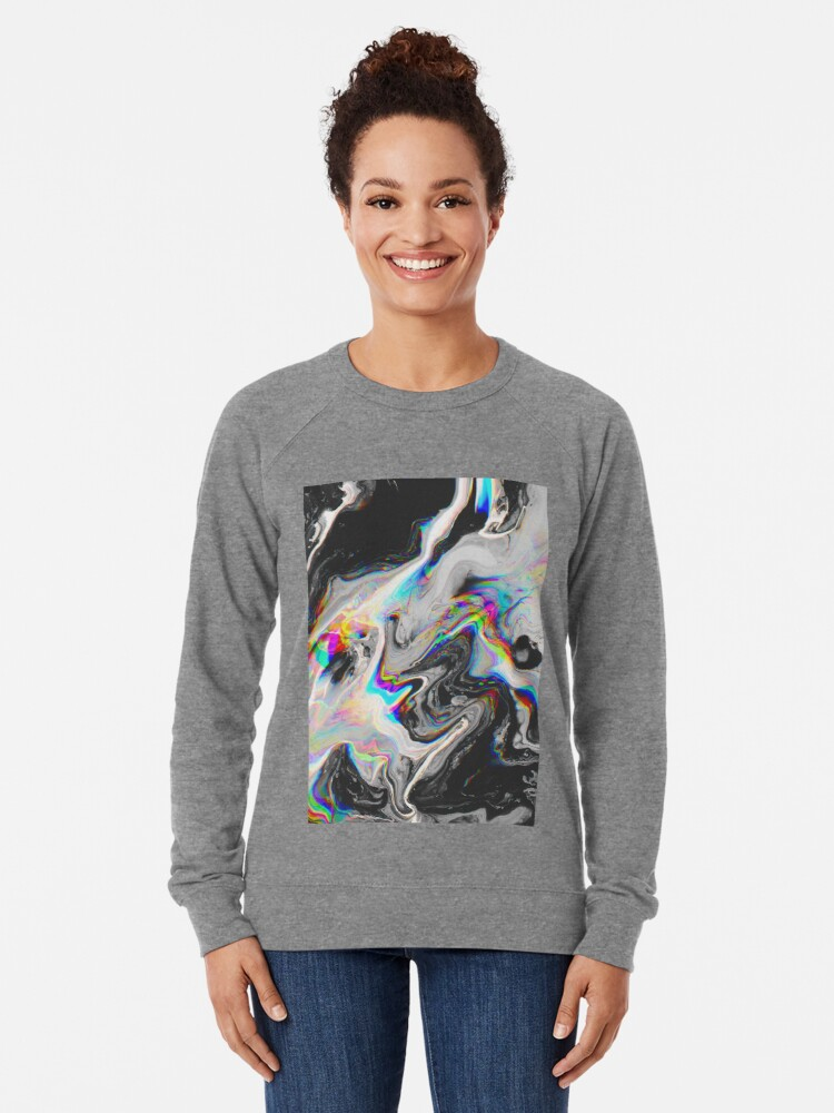 Alternate view of CONFUSION IN HER EYES THAT SAYS IT ALL Lightweight Sweatshirt