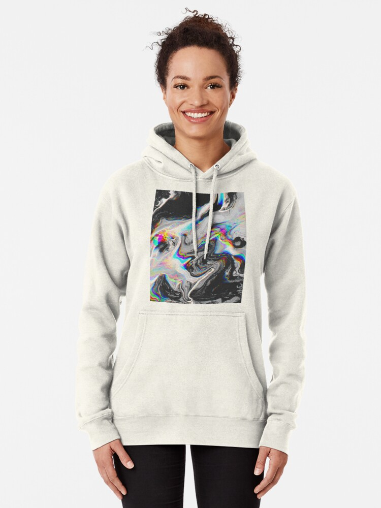 Alternate view of CONFUSION IN HER EYES THAT SAYS IT ALL Pullover Hoodie