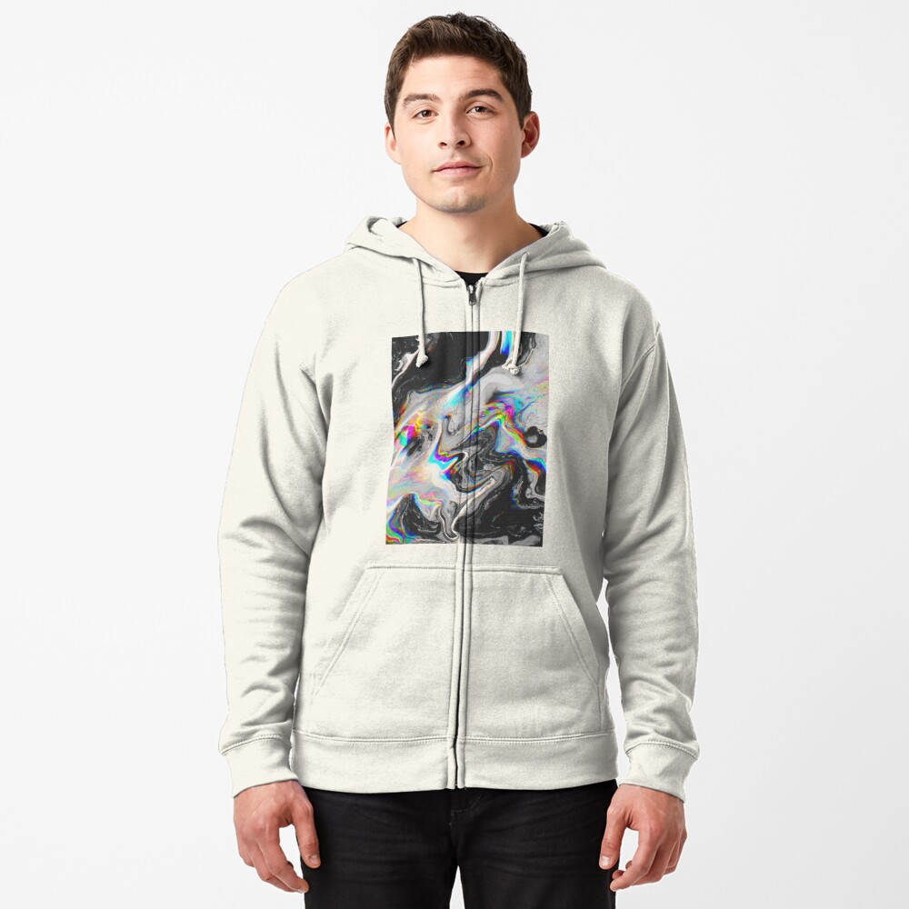 CONFUSION IN HER EYES THAT SAYS IT ALL Zipped Hoodie