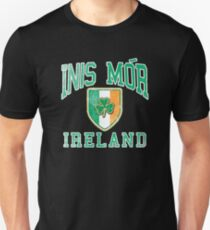 Inis Mor, Ireland with Shamrock T-Shirt