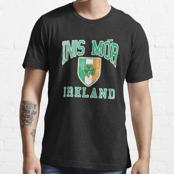 Inis Mor, Ireland with Shamrock Essential T-Shirt
