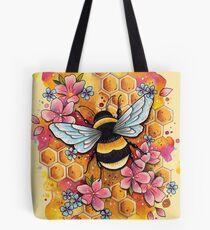 Bumble Bee watercolor design Tote Bag