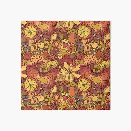 GROOVY 1970s shirtminidress classic print floral brown