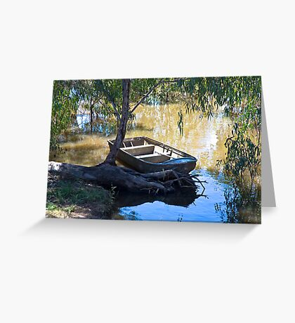 Light on the Murray at Echuca Greeting Card