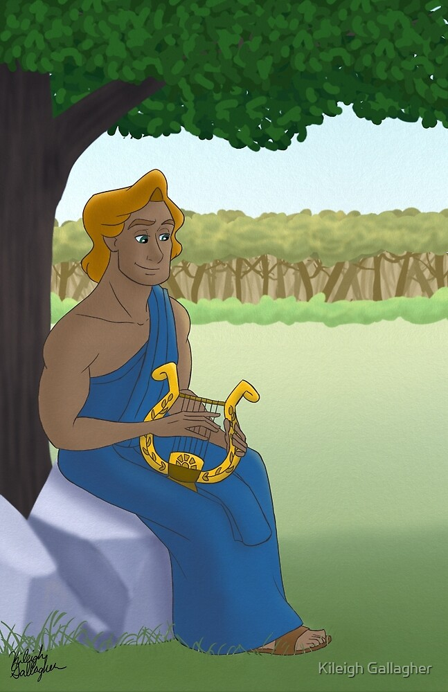 Apollo playing his Lyre by Kileigh Gallagher