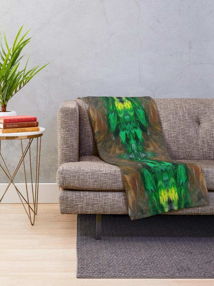 Alternate view of Terramorphosis Throw Blanket