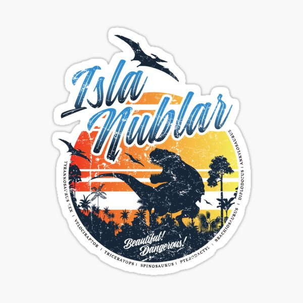 Isla Nublar Sticker