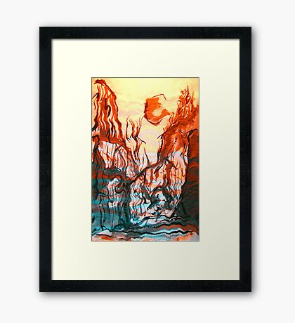 naked walk home.... desert stroll Framed Print