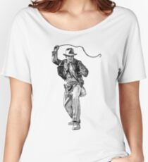 Indiana Jones Hand-drawing Women's Relaxed Fit T-Shirt