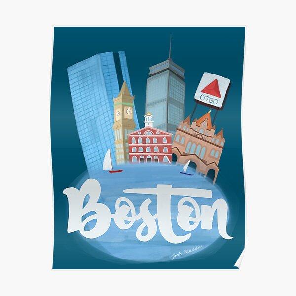 Boston Blues Poster