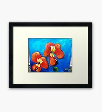 BACON AND EGG ORCHID Framed Print