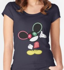 The Mouse is in da House V1 Women's Fitted Scoop T-Shirt