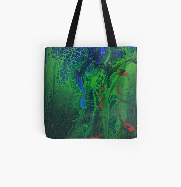 The Leopard Hides in the Jungle All Over Print Tote Bag