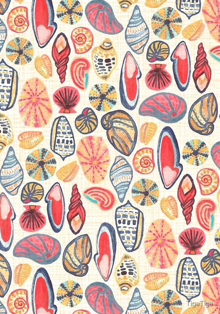 Gouache Seashells  by TigaTiga