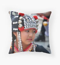 Little Thai Dancer Throw Pillow