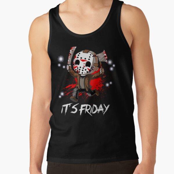 Friday 13th Womens Jason Text Mask Tank Top