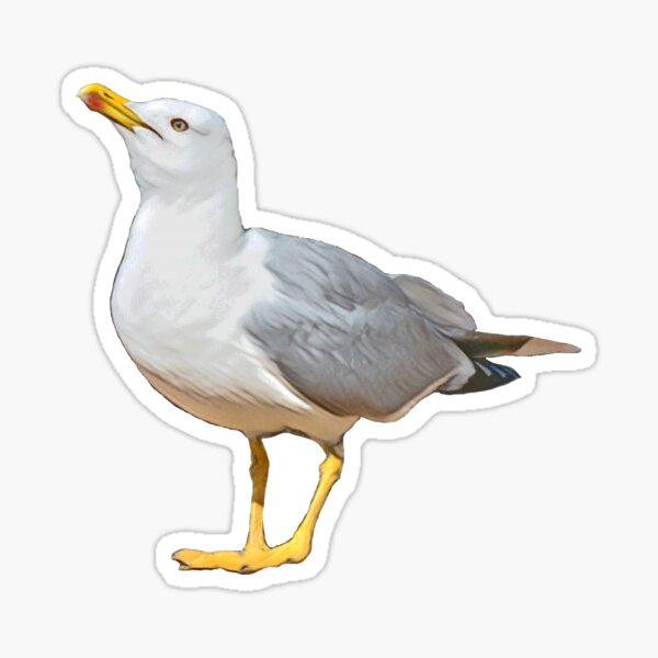 Sea Gull ready to fly Glossy Sticker