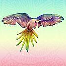 «Guacamayo arcoiris en vuelo» de Perrin Le Feuvre